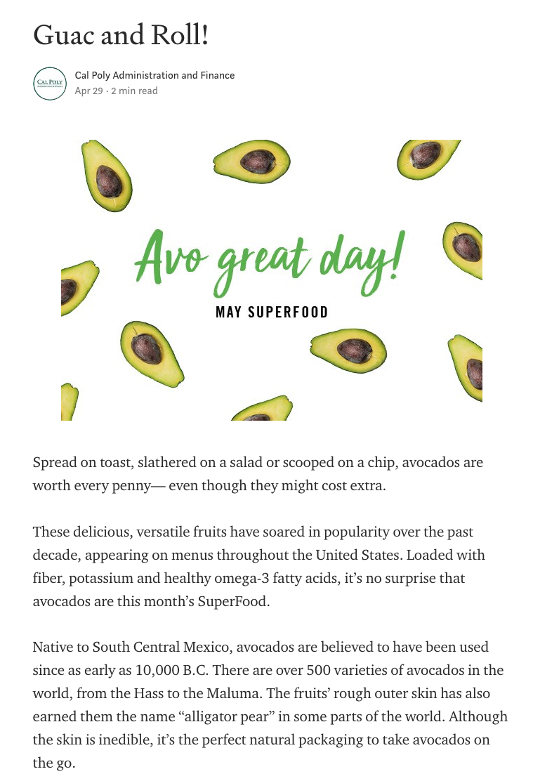 May Superfood Guac and Roll